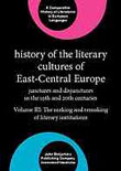 XXII. History of the Literary Cultures of East-Central Europe: Junctures and disjunctures in the 19th and 20th centuries. Ed. Marcel Cornis-Pope, John Neubauer. Amsterdam: Benjamins, 2007. vol. 3featured image