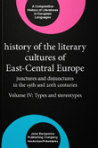 XXV. History of the Literary Cultures of East-Central Europe: Junctures and disjunctures in the 19th and 20th centuries. Volume 4: Types and stereotypes Cornis-Pope, Marcel and John Neubauer (eds.) 2010. xii, 714 pp.featured image